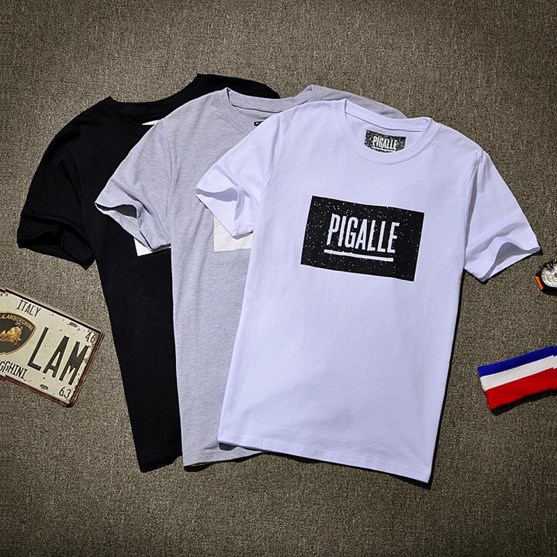 9a7aa07a Pigalle Men's Box Logo Letter Print T Shirt Pigalle Stranger Things ...