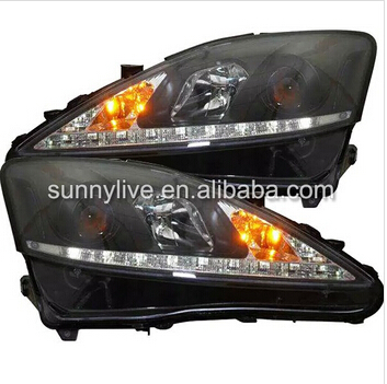 for Lexus IS250 LED Head Lamps with Projector Lens 2006-2010 SN led head lampfor lexus for lx470 led head lamp1998 2007 year