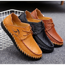 Loafers Flat Driving Moccasins Men Leather Shoes Slip On Elastic Casual Shoes Men Dress Shoes Tennis Trainers Chaussure Homme heinrich new style design flat men luxury loafer shoes casual breathable slip on driving shoes chaussure de securite pour homme