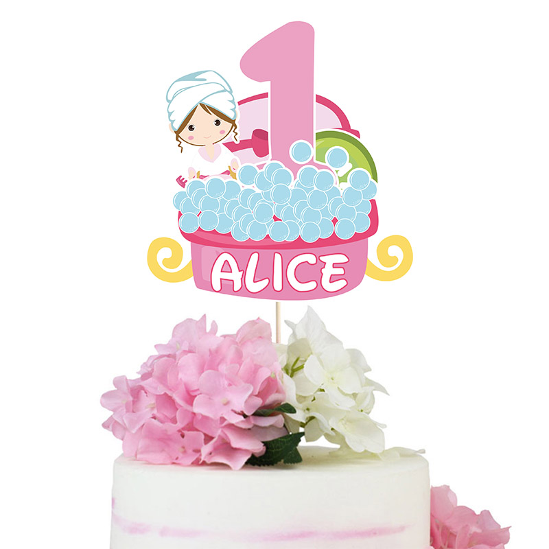 Marvelous Spa Cake Topper Little Spa Centerpiece Spa Birthday Party Personalised Birthday Cards Xaembasilily Jamesorg
