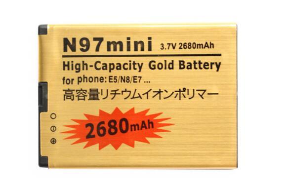 2680 mah Or BL-4D BL 4D Batterie N97 MINI Haute capacité Remplacement Li-ion Batterie Pour NOKIA N97MINI E5 E7 N8 702 t T7 Batterie