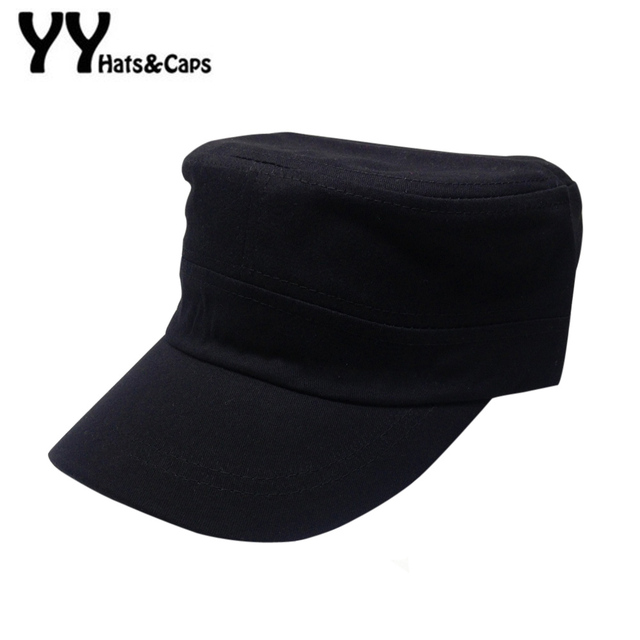 053052bc8679a Summer Vintage Cotton Baseball Cap Solid Military Hats for Women Sun Screen  Fashion Accessories Men Snapback Caps Gorras YY60519