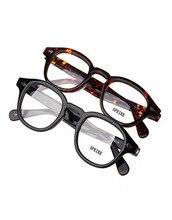 SPEIKE özelleştirilmiş yeni moda Lemtosh Johnny Depp tarzı gözlük AAAAA + kalite Vintage yuvarlak gözlük çerçeveleri reçete lens