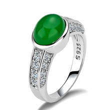 Huitan Classic Wedding Ring Bands Retro Stylish Noble Elegant With Brilliant Green Cubic Zircon Vintage For Femme