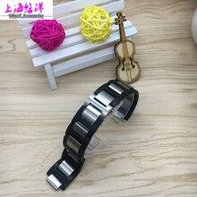 20*12mm correas de reloj de alta calidad de goma con acero inoxidable Negro Correa de Pulsera A Prueba de agua Para c-a-rtier venda de Reloj