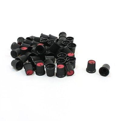 50pcs Red Black Plastic Nonslip 6mm 15/64