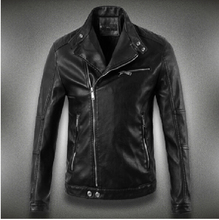 Free shipping !!! Men Spring Slim sheep skin leather jacket stand collar Short leather motorcycle tide leather clothing / M-3XL