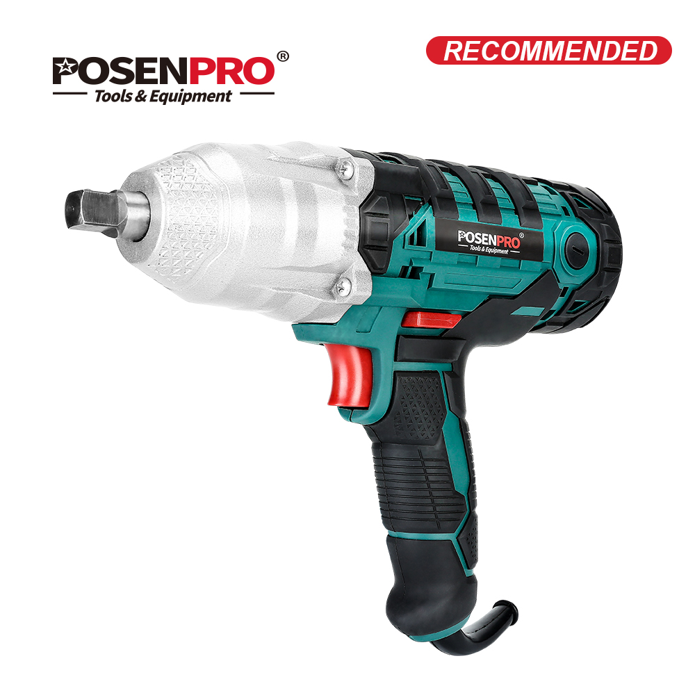 POSENPRO 450W Electric Impact Wrench Powerful 320Nm Max Torque 1 2 inch 2M Rubber Cable Car