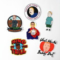 TD ZW 6Pcs/lot Western Anime King of the Hill Sticker For Car Laptop Luggage Skateboard Motorcycle Phone Decal Kids Toy Sticker