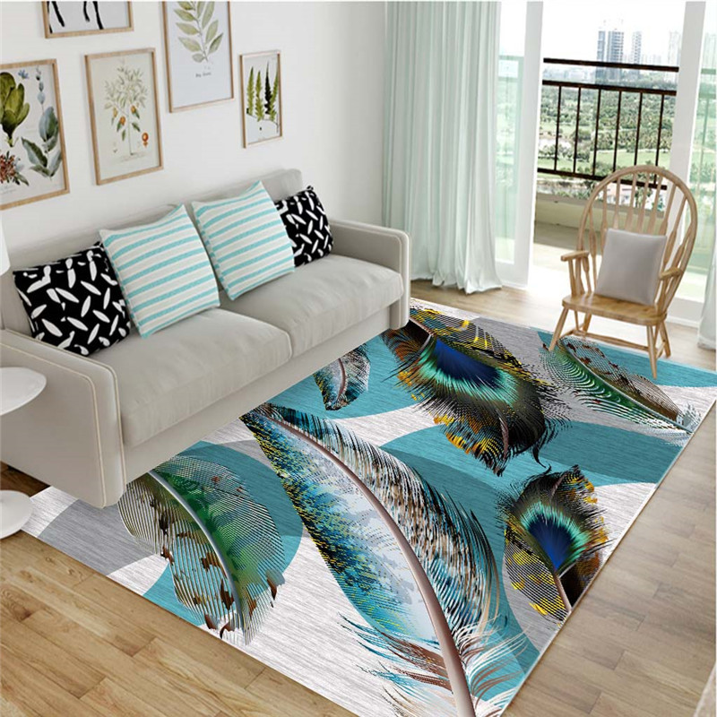 High Quality Art Feather Oil Painting Carpet For Living Room Bedroom Anti-slip Floor Mat Fashion Kitchen Carpet Area Rugs