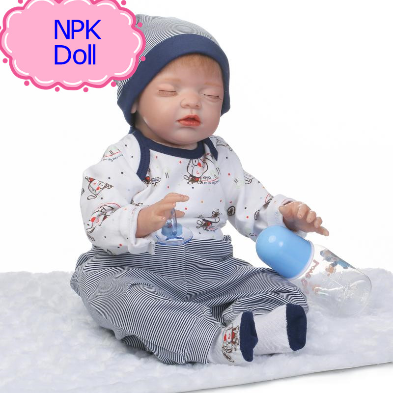 NPK 55cm Hot Sale Newborn Baby Bonecas Bebe Kid Toy Lifelike Silicone Reborn Baby Dolls For Children As Bed Playmate Hot Gift free shipping hot sale real silicon baby dolls 55cm 22inch npk brand lifelike lovely reborn dolls babies toys for children gift