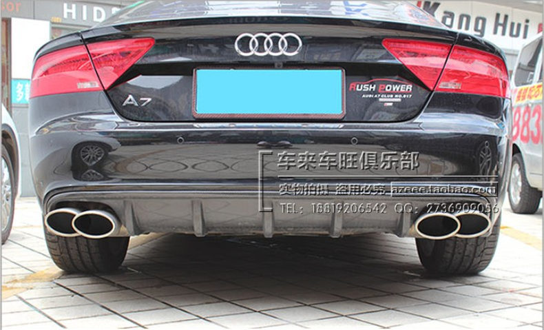 Carbon Fiber <font><b>Rear</b></font> Lip Spoiler For <font><b>Audi</b></font> <font><b>A7</b></font> 2012 2013 2014 2015 2016 2017 High Quality Bumper <font><b>Diffuser</b></font> Accessories image