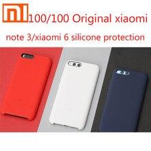 100/100 Original xiaomi Mi Note 3 Silicone Case Original xiao Mi 6 Silicone PC Microfibre Mi Note3 Cover Black and Red blue