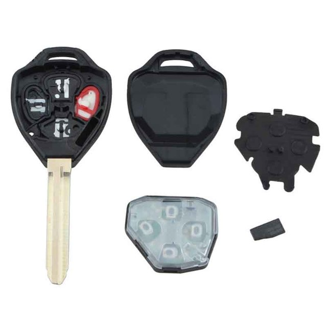 Replacement 4 On Remote Key Fob With 67 Chip For Toyota Camry 2007 2008 2009 2010 Car Auto