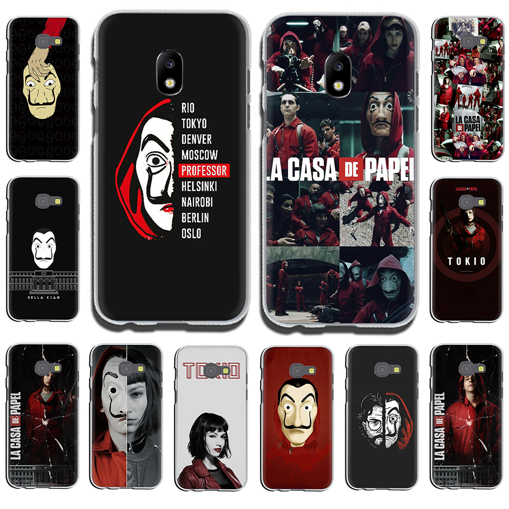 La Casa de Papel Hard Phone Case for Samsung Galaxy J6 J5 J1 J2 J3 J7 2017 2016 2015 Prime J7 EU Version image