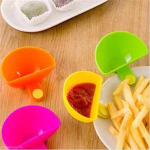 Tableware Cup Saucer-Cup Fruit Bowl 1PC Home Vegetable-Tool Salad Dip-Clip Ketchup Kitchen-Accessories