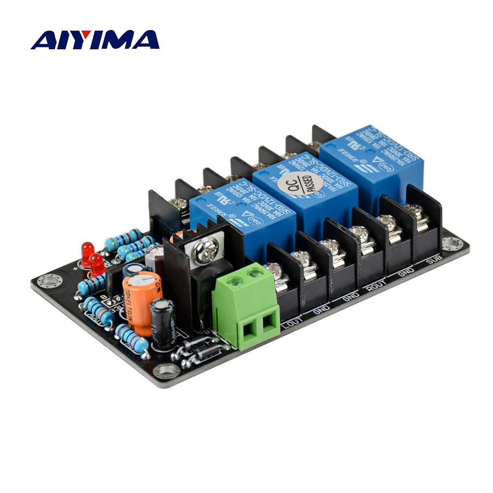 Aiyima UPC1237 2.1 speaker protection board kit parts reliable performance three channels For HIFI Amplifier DIY aiyima upc1237 speaker protection board dual channel power on delay dc protect module 11 26v for audio amplifier amp diy
