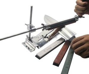 Image 1 - مسن سكاكين من الفولاذ المقاوم للصدأ ، مسن سكاكين مطبخ احترافي ، زاوية تثبيت ثابتة مع الأحجار