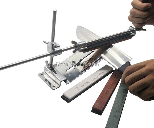 مسن سكاكين من الفولاذ المقاوم للصدأ ، مسن سكاكين مطبخ احترافي ، زاوية تثبيت ثابتة مع الأحجار