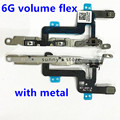 10pcs/lot New High Quality Power Mute Volume Button Switch Flex With Metal Bracket Cable Ribbon for iPhone 6 6G 4.7 inch