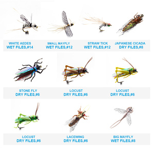 Image 4 - YAZHIDA nuovo 90pcs wet dry fly fishing set ninfa streamer poper vola legatura materiale kit di richiamo di pesca scatola di attrezzatura per le carpe trota