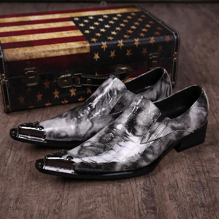 Ayakk.'ten Resmi Ayakkabılar'de En Kaliteli Erkekler Düğün Ayakkabı Yüksekliği Artan İngiliz Tarzı Hakiki deri Mens Oxfords bağcıksız ayakkabı Boyutu 39 46 Gerçek Pics'da  Grup 1