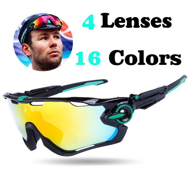 4 Lentes Mountain Velo óculos de Sol Das Mulheres Dos Homens de Óculos Polarizados Mandíbula Disjuntor JBR MTB bicicleta Ciclismo Óculos Esporte Óculos de Sol