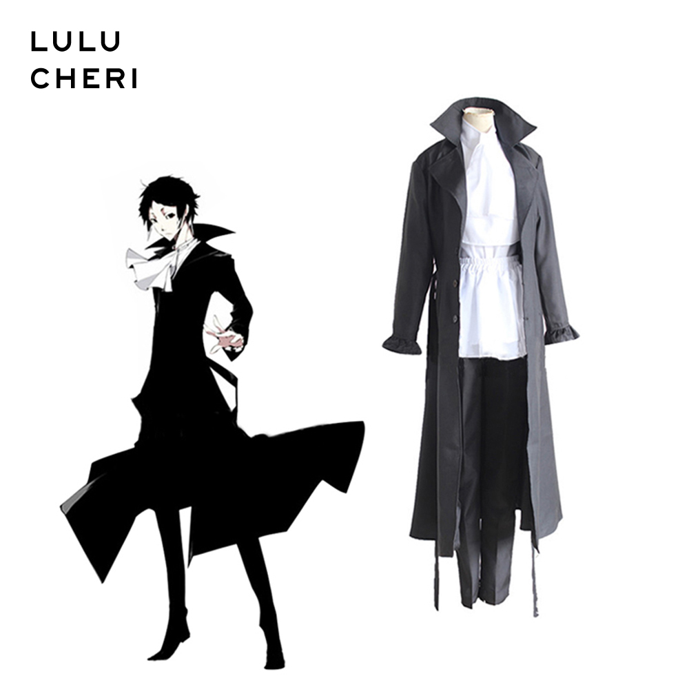 Anime Bungo Stray Dogs Akutagawa Ryunosuke Trench Full Set Cosplay Costume Halloween Christmas Party Suits For