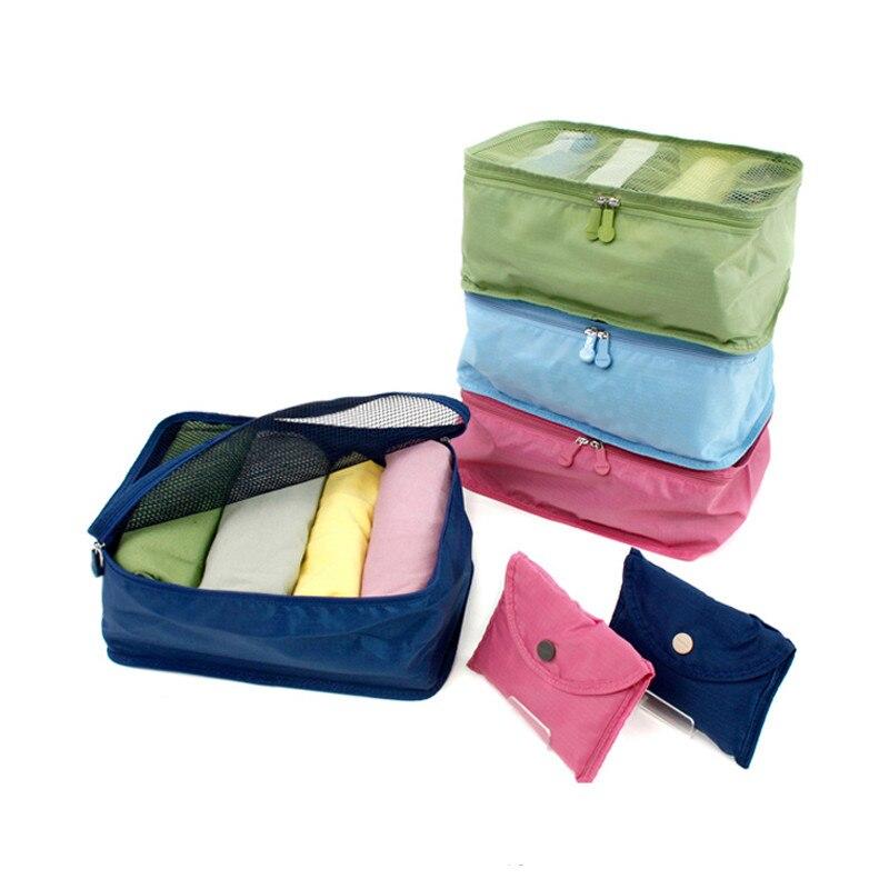 Nylon Mesh Home Travel Storage Bag Portable Shoes Underwears Clothes Classify Bag Foldable Waterproof Luggage Organizer Bag -FT garment bag