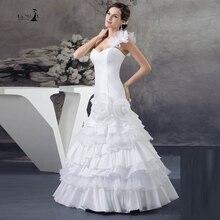LORIE Blanco Sirena Vestidos de Novia de Un Solo hombro Robe De Mariage 2017 Vestidos de Novia Partido vestido de Novia Venta Caliente Especial