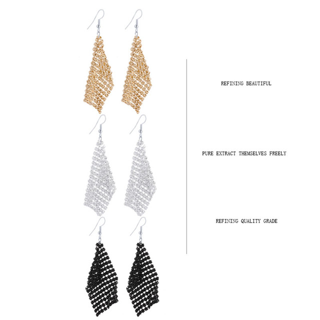 CACANA Long Earrings Gold Plated Dangle  Earrings For Women Tassel Bohemia Style Fashion Bijouterie Hot Sale No.A501
