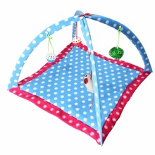 Pet Cat Play Tent Bed Funny Colorful Toys Kitten Pad Cushion Exercise Gift folding tent bed toy bed for dolls	pet dog bed Cats