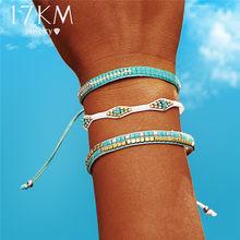 50f814027eca 17 km Bohemia Beads Weave Corda Amizade Pulseiras Para Mulher Homens  Algodão Handmade Charm Bracelet & Bangles Jóias Étnicas Pre.