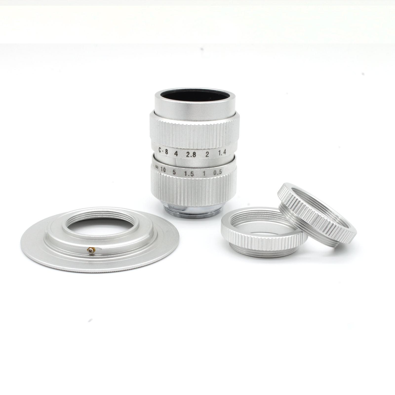 FUJIAN 25mm f/1.4 מיניאטורי SLR עדשת פנסוניק מיקרו 4/3 E-P1 P3 G1 GF5 מאקרו SILVE משלוח חינם