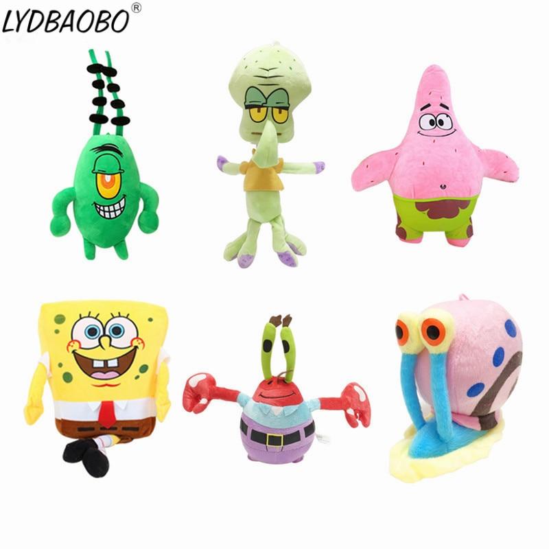 1pc Kawaii SpongeBob plush toys SpongeBob/Patrick Star/Squidward Tentacles/Eugene/Sheldon/Gary soft stuffed doll Baby lovely toy spongebob comics treasure chest