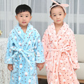 2017 Autumn And Winter Children Flannel Nightgown  Sale Kids Bathrobe Robe  Hooded Home Furnishing Wear