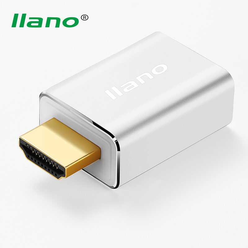 llano HDMI to VGA Converter Adapter Male to Female HDTV Video Cable Support 1080P for PC HDTV Monitor Display