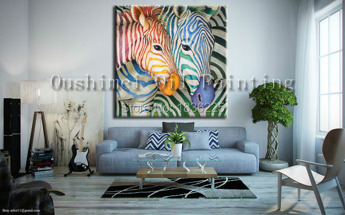 aliexpress : buy bright colored oil paintings abstract zebra