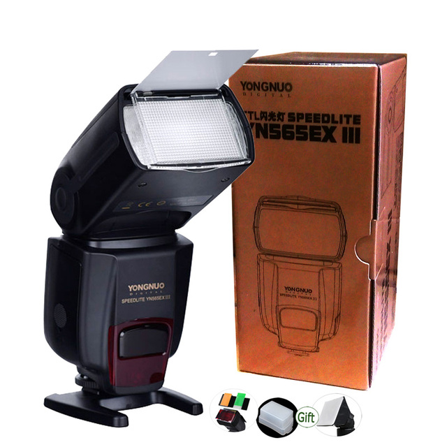 Yongnuo TTL פלאש DSLR Speedlite YN565EX III GN58 עבור ניקון מצלמה D7100 D5100 D3100 D3000 D700 D300s D200 D90 D80 d70 D40x
