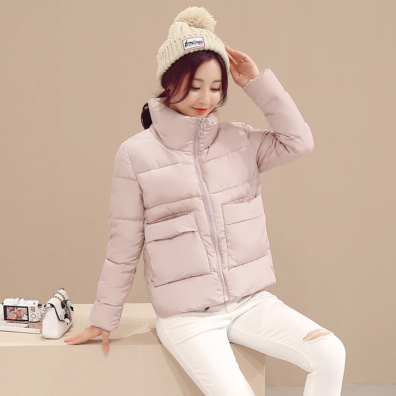 Women Lovely Cotton Padded Coat 2017 Winter Fashion Causual Warm Jacket Brief Design Paragraph Coat Loose M-XXL lovely autumn winter lover cotton padded women