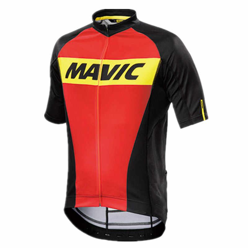 2019 для велоспорта Mavic Джерси одежда гонки спортивный мотоцикл Топы Велоспорт