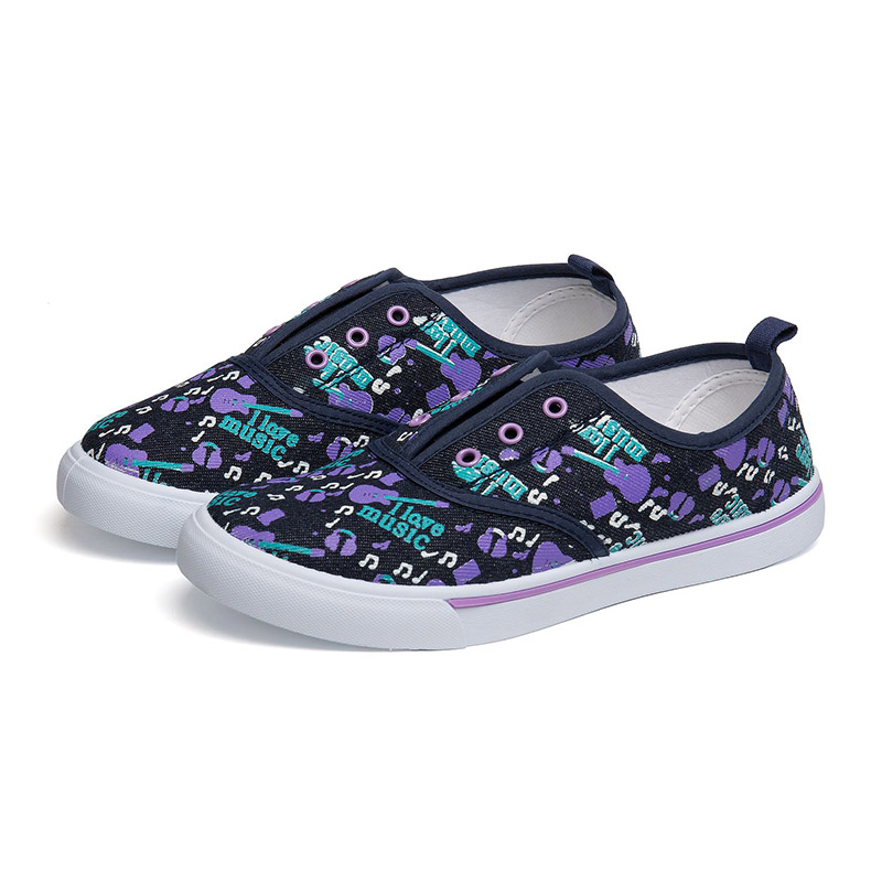FLAMINGO Spring& Summer Blue Textile Canvas Genuine Leather Anti-Slippery Print Size 31-36 Kids Shoes for Girl 81K-FY-0680 bole new men handmade genuine leather shoes fashion designer slip on driving loafers breathable flats men shoes large size 36 45