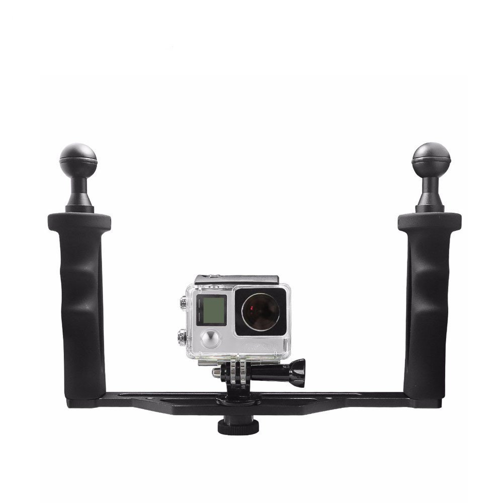Universal Aluminum Metal Handheld Stabilizer Hand Grip Underwater Mounting Tray for GoPro Hero 6 Hero 5