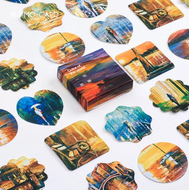 The beautiful color of paper stickers adhesive stickers for Decoration porte adhesive