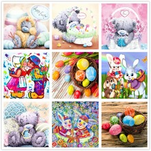 5D Diy diamond painting mosaic product cartoon full Diamond Embroidery Easter gift