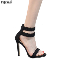 Women S High Heel Shoes Summer Ankle Strap High Heel Sandal Sexy Open Toe Party Shoes