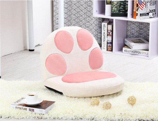 Paw Cushion Seat Floor Folding Chair Legless Puppy Bear Cat Living ...