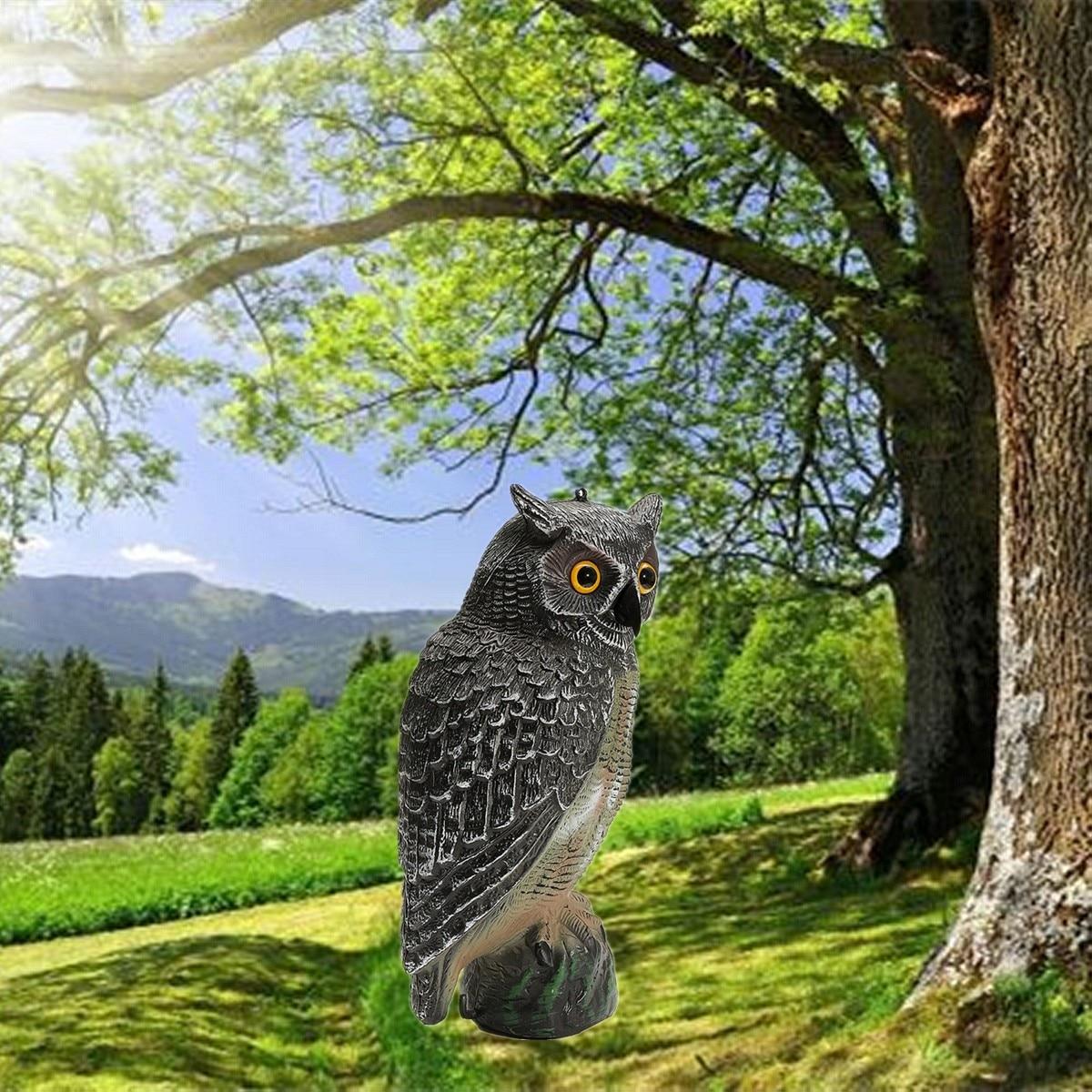 New Bionic Jagd Lockvögel Kunststoff Gefälschte Eule Garten Scarer Scarecrow Vogel Anrufer Yards Decor Ornamente Geschenke Für Hunter Liebhaber