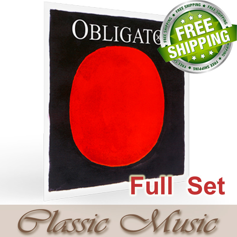 Free shipping ,Pirastro Obligato Violin Strings Full  Set (411521),4/4 Steel E Ball End,made in Germany original pirastro evah pirazzi gold violin strings full set gold g for 4 4 made in germany free shipping