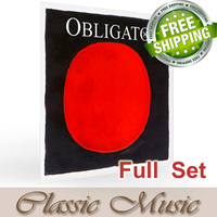 Free shipping ,Pirastro Obligato Violin Strings Full Set (411521),4/4 Steel E Ball End,made in Germany